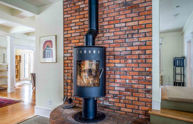 810 S Willson fireplace in kitchen
