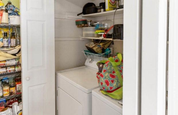 3012 W Villard, laundry area behind bifold doors in kitchen