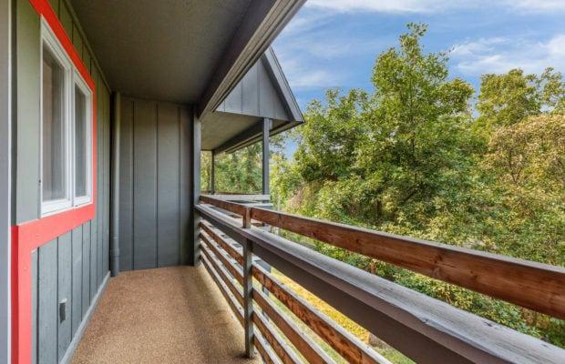 321 Perkins Place, Unit C, outdoor balcony off of 2nd floor bedroom