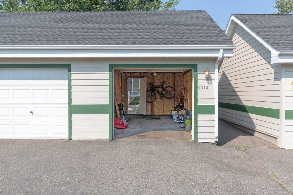 3012 W Villard, exterior shot showing vehicle entrance to detached garage