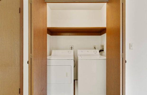 321 Perkins Place, Unit C, laundry area behind bifold doors