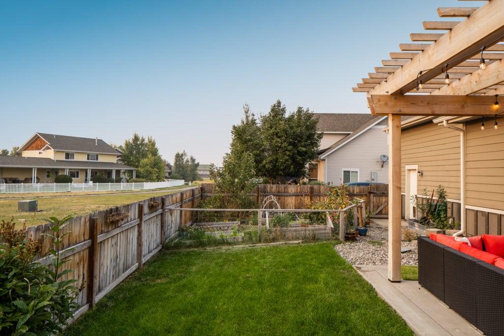 2397 Lasso Avenue backyard looking towards garden