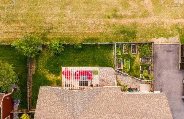 2397 Lasso Avenue aerial of backyard