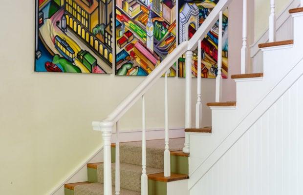 810 S Willson stairs going to 2nd floor