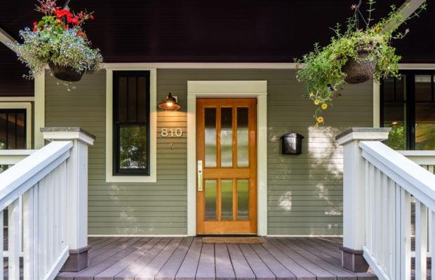 810 S Willson front door and porch