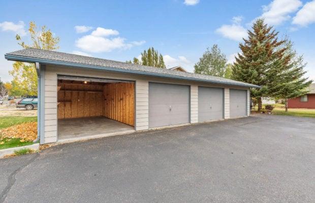 111 S Yellowstone Avenue detached garage with opened door