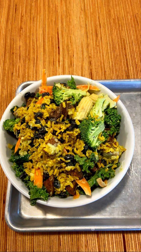 Food from the Farmacy vegan restaurant in Bozeman