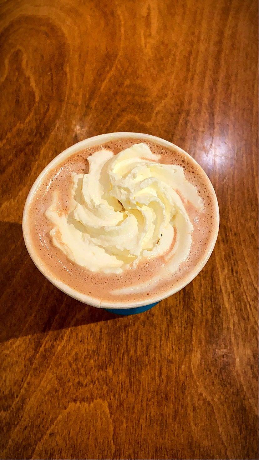 hot cocoa from wild joe's in bozeman