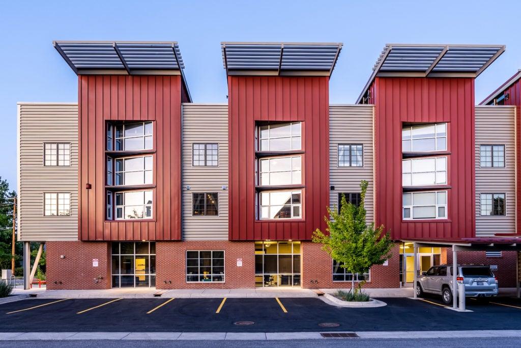 626 E Cottonwood, Loft 2, main exterior from west side parking lot