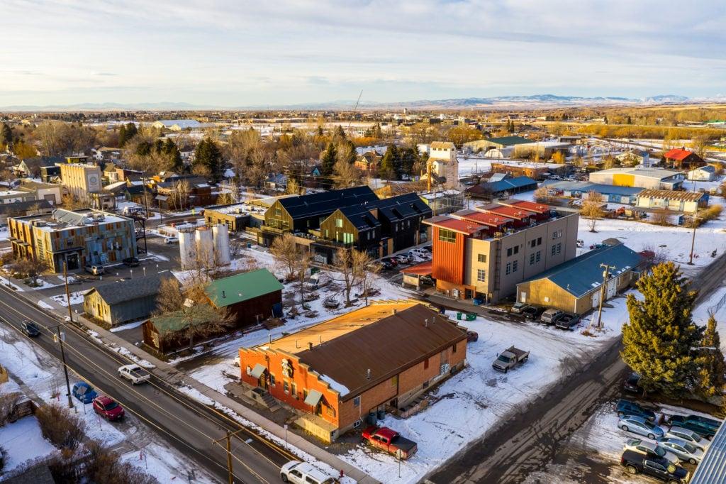 626 E Cottonwood, Loft 2, drone photo of property and surrounding area