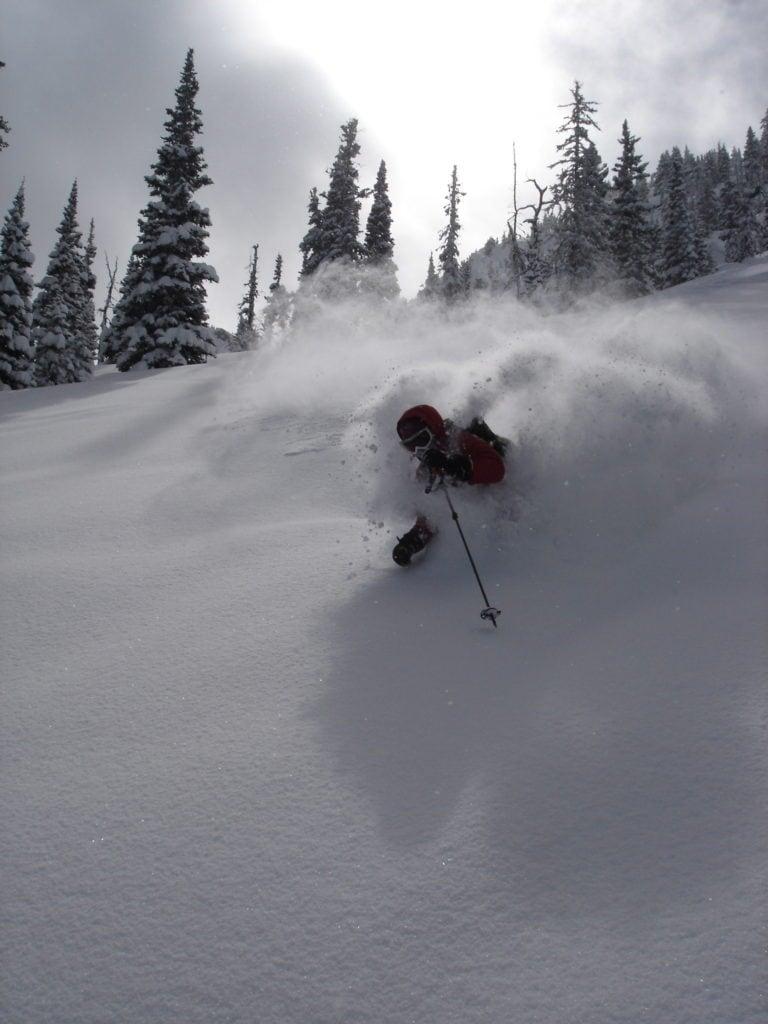 Skier at Bridger Bowl Ski Area