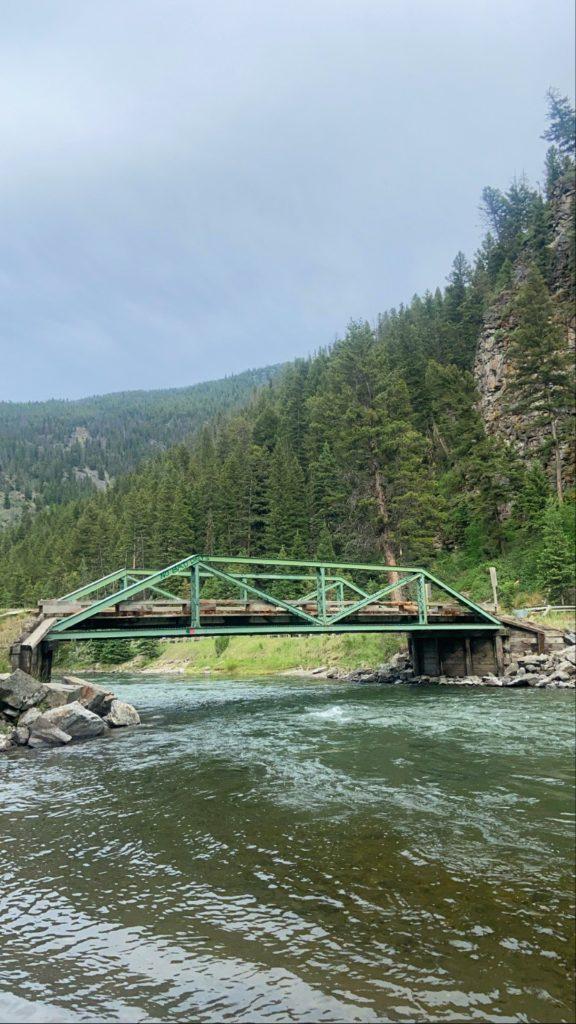 the green bridge in gallatin canyon