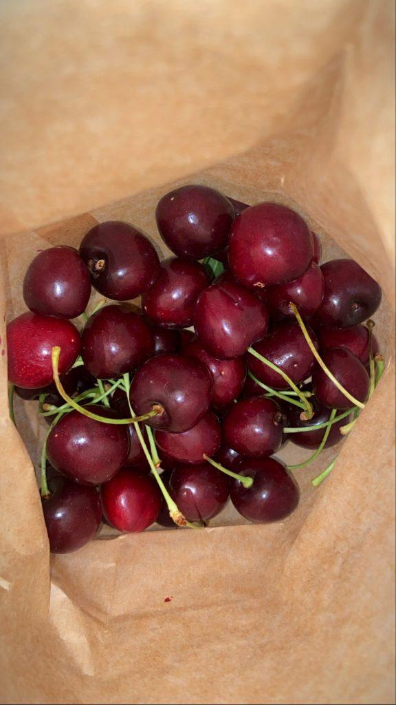 cherries from the manhattan farmers market