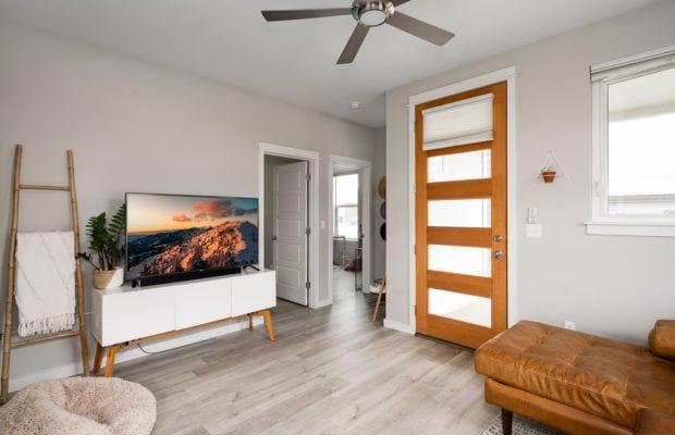4660 Shadowglen, main living area looking back towards front door and hall