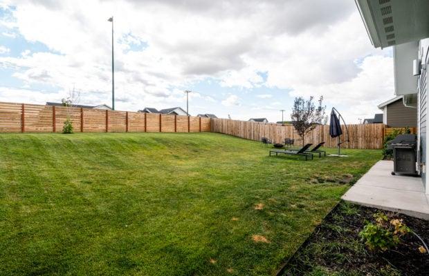 4660 Shadowglen, backyard looking towards fence